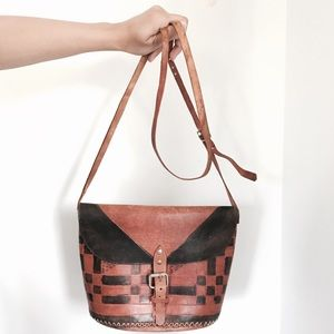 🆕Listing! Vintage boho leather crossbody bag